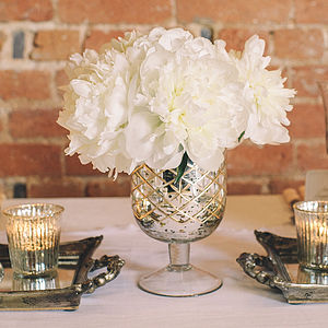 Mercury Silver Footed Vase Large - winter wedding ideas