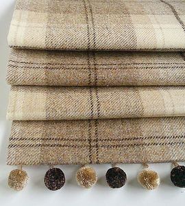 Natural Tweed Roman Blind - dining room