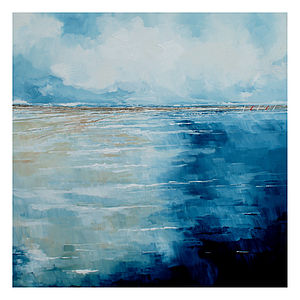 Blustery Day Canvas Painting - paintings & canvases