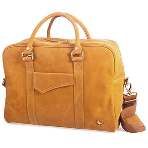 Ladies Leather Overnight Bag - bags & purses