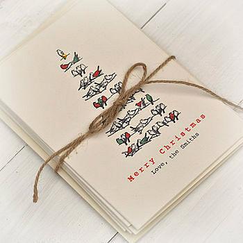 Christmas Tree Personalised Card Pack