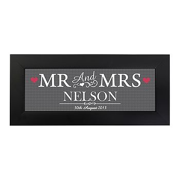 Personalised Mr And Mrs Print With Frame