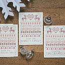Three Personalised Cross Stitch Christmas Cards