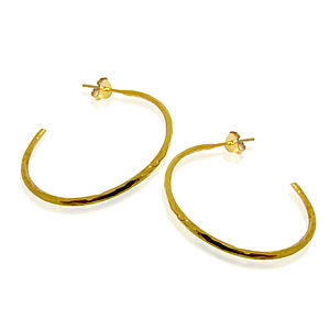 Beaten Hoops - earrings