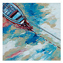 Boat And A Rope Canvas Painting
