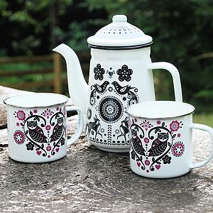 Enamel Folklore Tableware - crockery & chinaware
