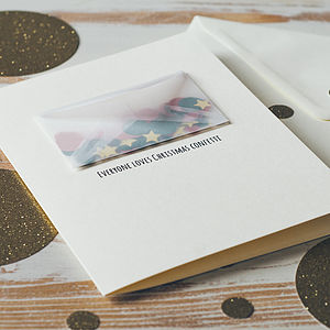 Personalised Christmas Confetti Card - view all decorations