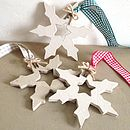 Snowflakes showing choices of Gingham Ribbon