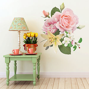 Vintage Inspired Floral Wall Sticker - baby's room