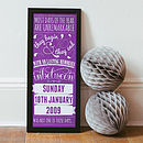Purple - Personalised Special Date Art Print