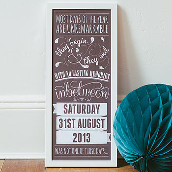 Personalised Special Date Art Print