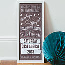 Toasted Grey - Personalised Special Date Art Print