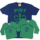 Matching Pint / Half Pint Trio Set Dads Sons Daughters