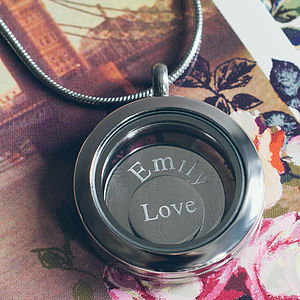 Small Disc Locket - necklaces