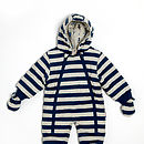 Boy's Striped Robot Pramsuit