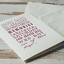 Merlot - Personalised Special Date card with cream envelope