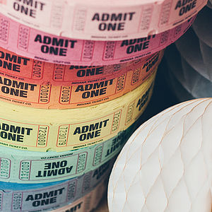 'Admit One' Tickets, Pack Of 50 - finishing touches