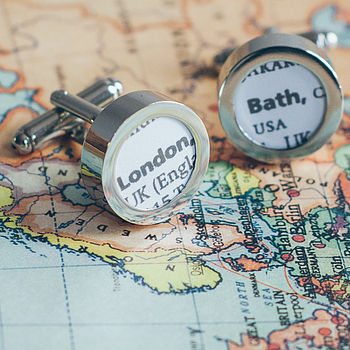 Destination Name Cufflinks