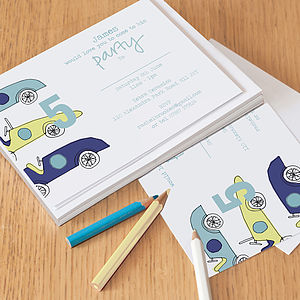 12 Personalised Party Invitations For Boys - children's parties