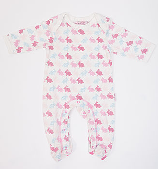Rabbit Print Sleepsuit