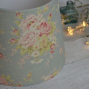 Florence Linen Tapered Drum Lampshade - lampshades