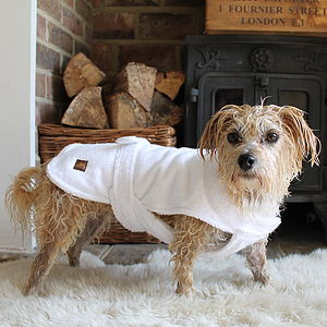 After Bath Dog Towelling Robe - clothes & accessories