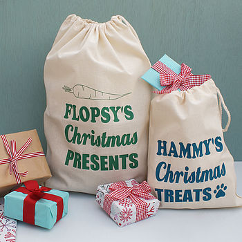 Personalised Christmas Small Animal Gift Sack