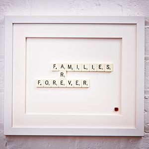 Families Are Forever Scrabble Art