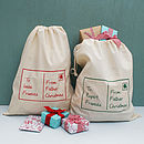 Personalised Postcard Christmas Sack