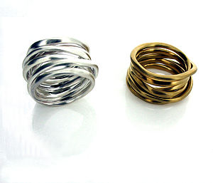 Silver Or Gold Coiled Ring - urban armour