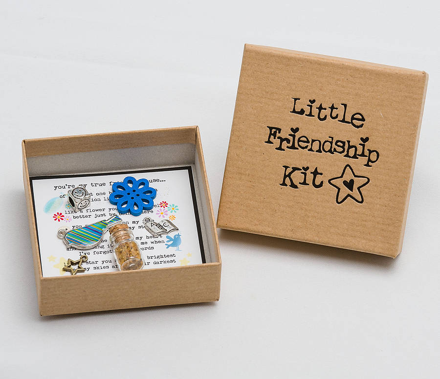 Personalised friendship keepsake charm box by fromlucy for Craft gifts for friends