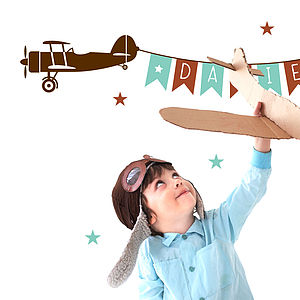 Airplane Nursery Sticker
