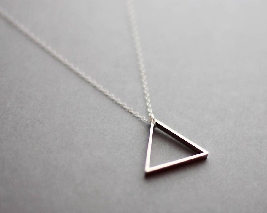sale pendant chain gold necklace long triangle wholesale yiwuproducts