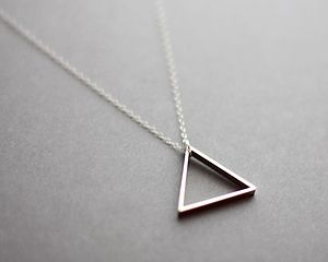 Single Triangle Necklace - necklaces & pendants