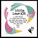 'Little Love Kit' - showing example personalised message
