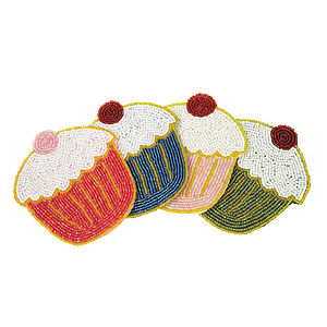 Cupcake Coasters Set Of Four