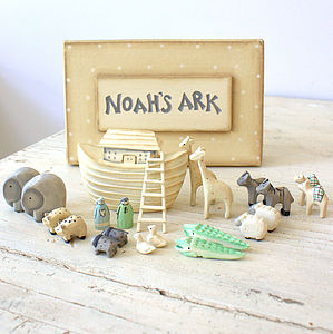 Noahs's Ark In Gift Box - children's room accessories
