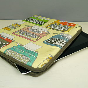 Retro Typewriter iPad Case - bags, purses & wallets