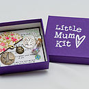 'Little Mum Kit' - showing open box charms inside