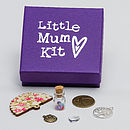 'Little Mum Kit' - showing closed box with detail of the charms