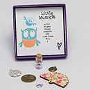 'Little Mum Kit' - showing open box with detail of the charms and example personalised message