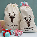 Personalised Stag Christmas Sack