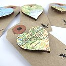 Heart Shaped Custom Vintage Map Brooch