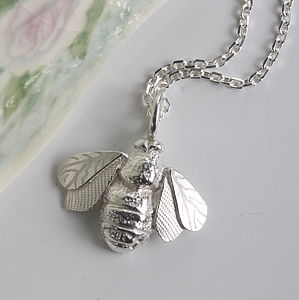 Silver Bee Necklace - women's jewellery