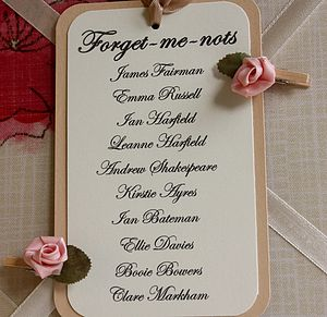 Wedding Table Plan Cards - parties