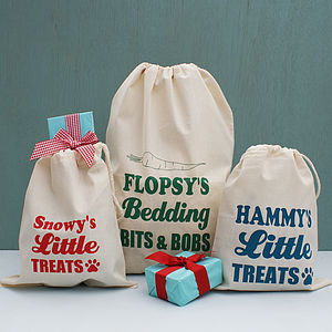 Personalised Animal Gift And Storage Bag - treats & food
