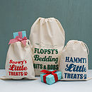 Personalised Animal Gift And Storage Bag