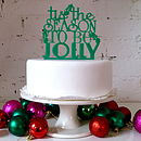 Tis The Season To Be Jolly Cake Topper
