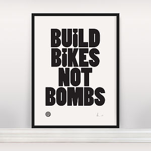 'Build Bikes' Ltd Edition Screen Print
