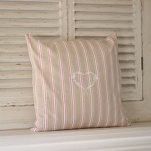 Linen Red Stripe Cushion - cushions